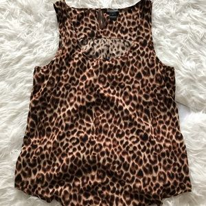 Lucky Brand Cheetah Print Tank Top